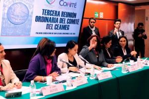 En la reunión de trabajo, la presidenta del Comité del CEAMEG, Guadalupe González Suástegui, indicó que este órgano trabaja en pro de los derechos de niñas y mujeres del país, generando información para enriquecer los trabajos de la Cámara de Diputados.