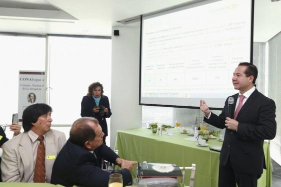 Durante la reunión, se contó con la participación de Xavier Gomez Coronel Yslas y Roberto Villaseñor Aceves.
