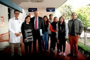 Conferencia de prensa sobre Diabetes Obesida y Cancer en la foto DRA Nayeli Garibay Nieto DRCesar ATHIE DR. Alejandro Velasco Medina