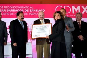 Encabezaron la ceremonia el titular de la CONADIC, Manuel Mondragón y Kalb y el Secretario de Salud de la Ciudad de México, Armando Ahued