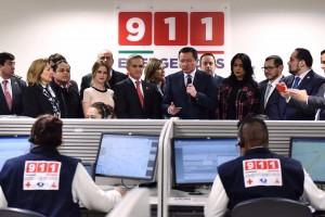 El Secretario de Gobernación, Miguel Ángel Osorio Chong, encabezó el inicio de la operación del nuevo número telefónico de emergencias 9-1-1 y el lanzamiento de la aplicación móvil 9-1-1 Ciudad de México