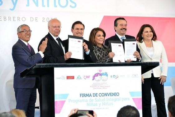 Se firma convenio del Programa de Salud Integral para Niñas y Niños