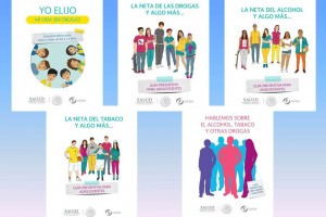 Guías informativas para detectar, prevenir y orientar sobre la atención de las adicciones como alcohol, tabaco y otras drogas.