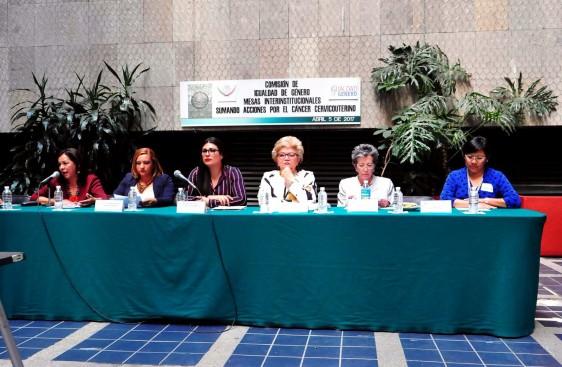 Por su parte, la Dip. Lucely Alpizar Carrillo, de la Comisión de Igualdad de Género y de la Dra. Lucely Cetina (INCan) hicieron un llamado para que la Secretaría de Salud contemple en la programación de su presupuesto, correspondiente al Anexo 13 Para la igualdad entre hombres y mujeres, un monto específico para que el INCan cuente con un programa para la atención de pacientes con cáncer de cérvix en etapas localmente avanzadas y avanzadas.