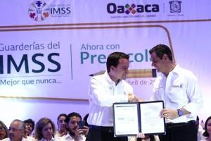 Oaxaca es la entidad número 19 en sumarse al Programa de Educación Preescolar en Guarderías que impulsa el Presidente Enrique Peña Nieto, como medida de inclusión social.
