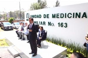 El Director General inauguró la Unidad de Medicina Familiar número 163 que beneficiará a 65 mil derechohabientes.