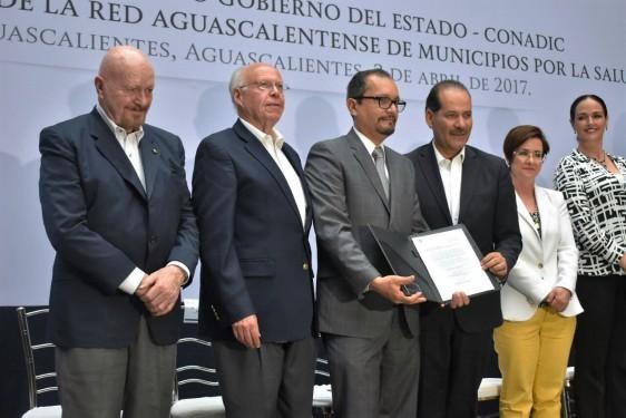 La Secretaría de Salud Federal firmó como testigo el convenio entre CONADIC y gobierno de Aguascalientes