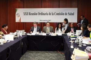 El presidente de la Comisión de Salud, Sen. Francisco Salvador López Brito, encabezó la 22ª reunión de trabajo de la Comisión de Salud