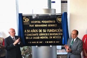 El Secretario de Salud, José Narro Robles, encabezó el 50 aniversario del Hospital Psiquiátrico Fray Bernardino Álvarez