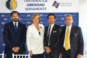 Dr. Carlos Aguilar Salinas, Dra. Donna H. Ryan, Dr. Simón Barquera y Dr. Armando Mansilla