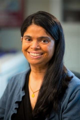 Pavani Ram, profesora asociada de epidemiología y salud ambiental y directora de la Comunidad para la Equidad de Salud Mundial de la University at Buffalo (Universidad en Buffalo)