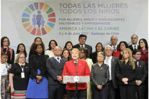 La Presidenta de la República de Chile, Michelle Bachelet explicó los detalles de lo abordado en este primer día de reuniones en Chile.