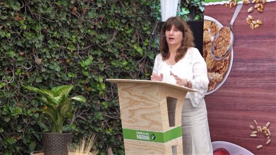 Cereales de caja en el desayuno puede ser una herramienta para integrarse en el desarrollo de estrategias practicas e informativas para una mejor nutrición, Ernestina Polo, coordinadora del Fondo Nestlé para la Nutrición