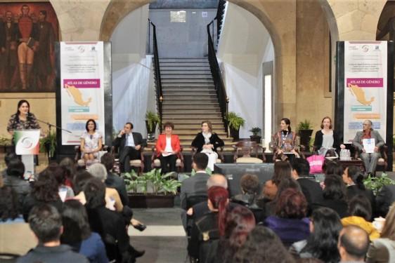 A la presentación del Atlas de Género asistieron el senador del PAN, Ernesto Cordero Arroyo; Marcela Eternod, secretaria Ejecutiva de Inmujeres; y Eric Manuel Rodríguez Herrera, director de Coordinación Técnica.