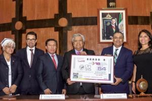 Víctor Alan García Palomo, en representación de Pedro Pablo Treviño Villarreal, Director General de la Lotenal, hizo un recuento de las acciones del Hospital Juárez, uno de los más longevos de México