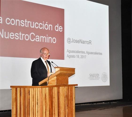 Supervisó las obras del Hospital Miguel Hidalgo y dictó conferencia magistral en la Universidad Autónoma de Aguascalientes.