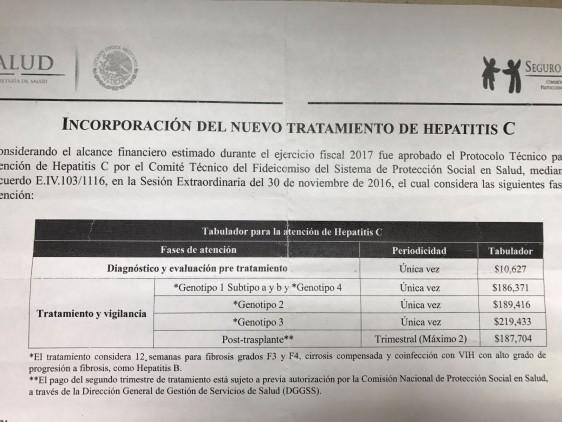 El virus de hepatitis C es curable y el sector público en México lo cubre.