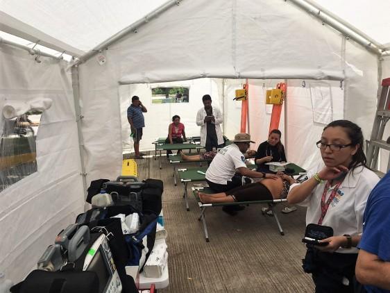 El Secretario de Salud, José Narro, afirmó que en general, la infraestructura médica en estados afectados no sufrió daños mayores, excepto Juchitán.