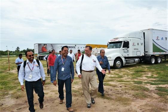 Se cuenta con un hospital móvil de 30 camas en Juchitán