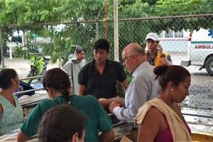 Estas medidas han permitido que hasta el momento no se registren brotes epidemiológicos Se han otorgado 31 mil 822 consultas médicas en los municipios afectados por el sismo en ambas entidades.