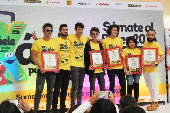 El grupo MARCONI y los Influencers Dylan Kenjiro, Yedi Cojuc, Carlos Chicken Muñoz, Tai Gálvez y Angie Flores, embajadores de Un Kilo de Ayuda dan inicio al Boteo 2017.