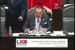 Cámara de Diputados aprobó regular prestación de servicios relacionados con práctica de activación y cultura físicas y de deporte