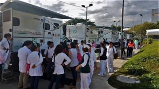 Desde el sismo del 7 de septiembre a la fecha, 18 Unidades Médicas Móviles han atendido a más de 100 mil pacientes de comunidades alejadas en Chiapas.