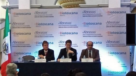El Dr. Caio Max S. Rocha Lima dio a conocer los alentadores resultados obtenidos por Abraxus, (Paclitaxel unido a albúmina en nanoparticulas Suspensión Inyectable) en un estudio clínico, que benefició a 861 pacientes de diversas nacionalidades.