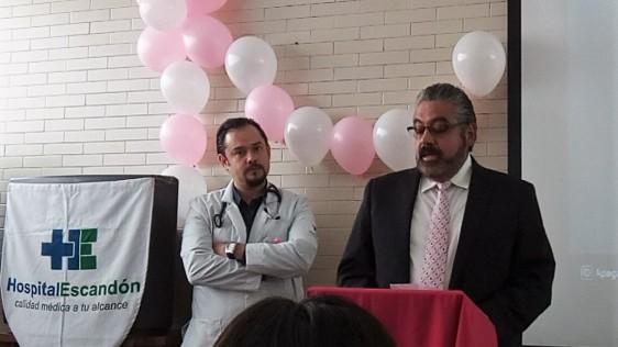 Hospital Escandón en alianza con Héctor Sotero Mata apoyan a mujeres de escasos recursos con Cáncer de Mama