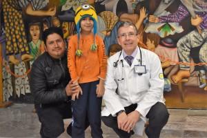 El paciente: un niño de 8 años de edad con un problema de atresia pulmonar.
