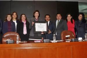Entrega de Reconocimiento a la Dra. Ana Güezmes, Representante de la ONU-Mujeres en México
