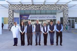 El Secretario de Salud, José Narro y el mandatario entregan la rehabilitación del Hospital General de Atlixco