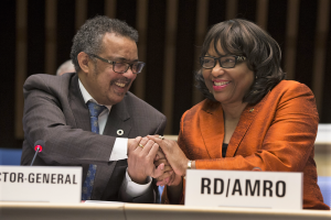 La doctora Carissa F. Etienne fue nombrada hoy como Directora Regional para las Américas de la Organización Mundial de la Salud (OMS) para un segundo mandato por el Consejo Ejecutivo de la OMS
