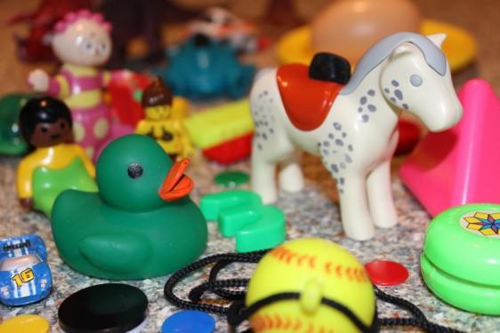 Algunos de los juguetes analizados en la investigación.