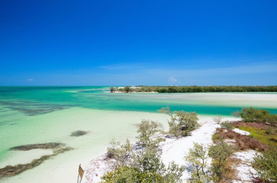 Scenic view of Holbox island and ocean in Mexico