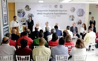 También puso en marcha la ampliación y remodelación del área de urgencias del Hospital de Especialidades e instalaciones de la subdelegación metropolitana Hidalgo.