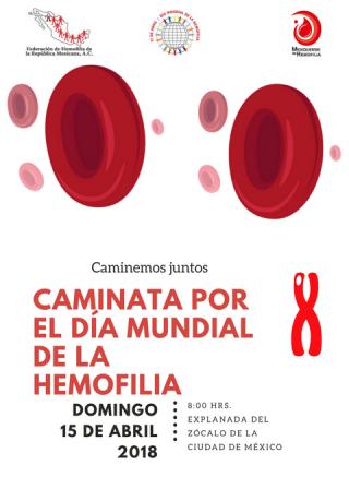 Sexta caminata por el Día Mundial de la Hemofilia