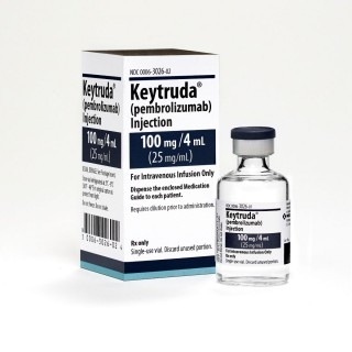 KEYTRUDA Keytruda 100mg/4mL Vial y empaque