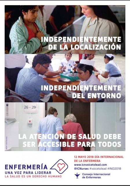 Cartel del Día Internacional de la Enfermera 2018