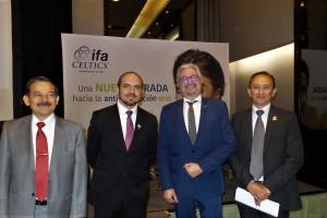 Dr. Jorge Pérez, Rodrigo Moheno, Dr. Ezequiel Pérez y Dr. Julio Morfin