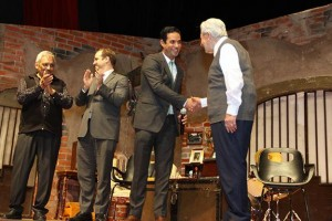 """El titular del Seguro Social, Tuffic Miguel, dio inicio al evento con la presentación de la obra """"Aeroplanos"""", representada por el primer actor Ignacio López Tarso."""