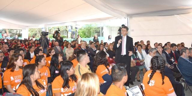 El subsecretario de Prevención y Promoción de la Salud, Pablo Kuri Morales, participó en el Foro Educativo Ser Joven EMS