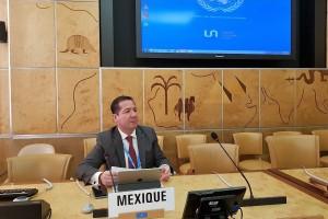 En otra reunión, Julio Sánchez y Tépoz, con la representación del Gobierno de México, presentó la Estrategia Nacional de Acción sobre la Resistencia a los Antimicrobianos.