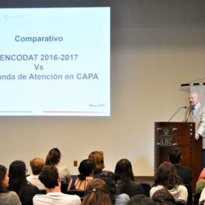 El titular de la CONADIC dictó conferencia magistral en el 33 Curso de Psiquiatría de Adultos y de Niños para Médicos y Terapeutas.