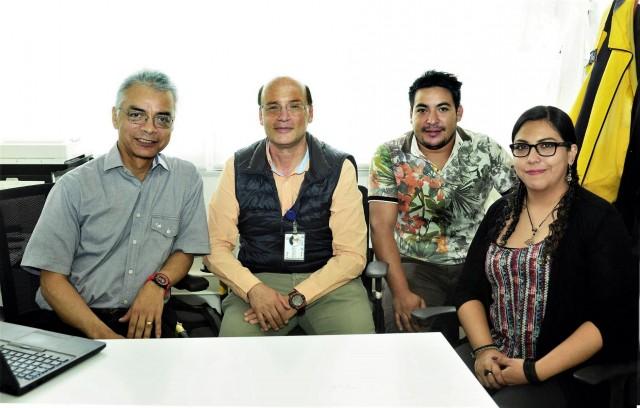 De izquierda a derecha Alejandro Ramírez Reivich, Vicente Borja Ramírez, Arturo Mendoza Romero y Diana Inés Ramírez García
