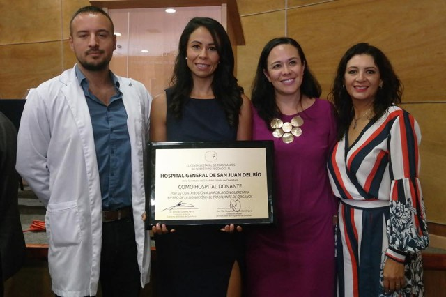 En el Hospital General de San Juan del Río se considera a la donación de órganos y tejidos como una actividad asistencial propia