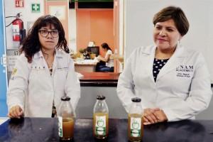 En la FES Cuautitlán, la académica Raquel Gómez Pliego y sus alumnos desarrollaron este producto, resultado de la fermentación de hierbas, raíces y plantas, actualmente en proceso de patente.