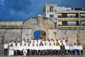 La XXI Reunión Nacional Ordinaria del Consejo Nacional de Salud (CONASA) reúne a los secretarios estatales de Salud de las 32 entidades, entre ellos el anfitrión, Rafael Rodríguez Cabrera; subsecretarios, comisionados y el Secretario Técnico del CONASA, Isidro Ávila.