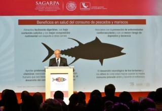 El Secretario de Salud, José Narro, participó en el Foro Económico de Pesca y Acuacultura 2018.