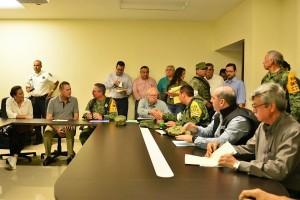 El Secretario de Salud participó en la reunión de Protección Civil que se realizó en Ahome, Sinaloa